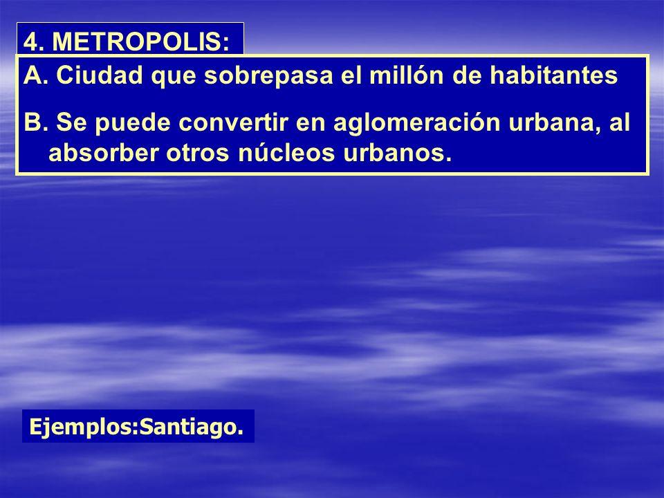 Ciudad que sobrepasa el millón de habitantes