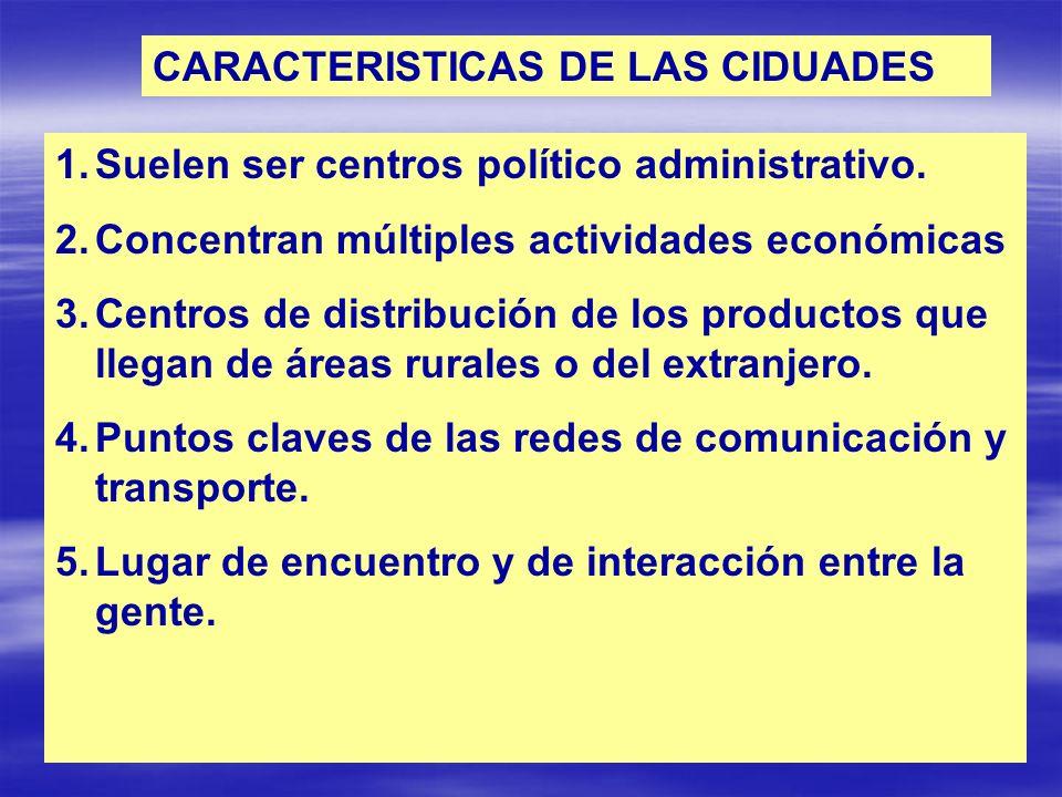 CARACTERISTICAS DE LAS CIDUADES