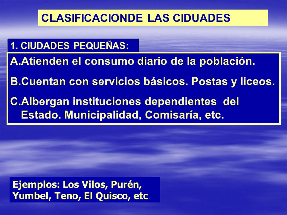 CLASIFICACIONDE LAS CIDUADES