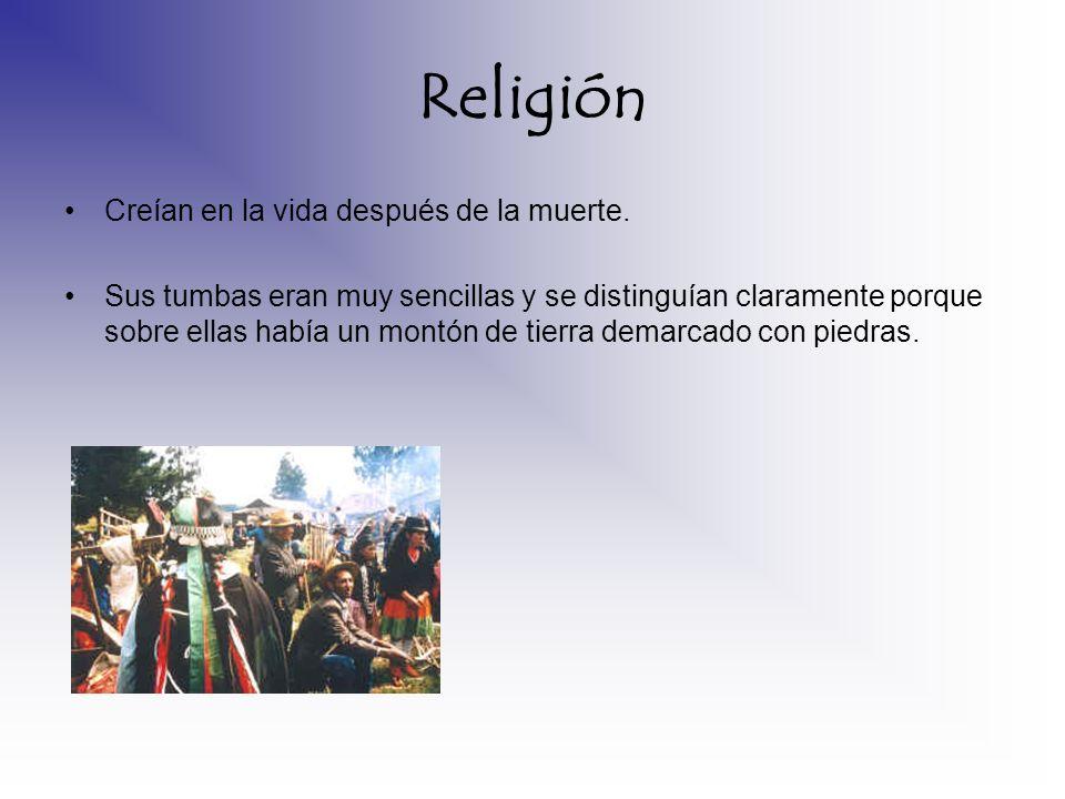 Religión Creían en la vida después de la muerte.