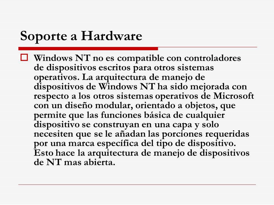 Soporte a Hardware