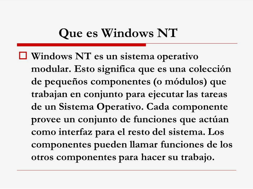 Que es Windows NT