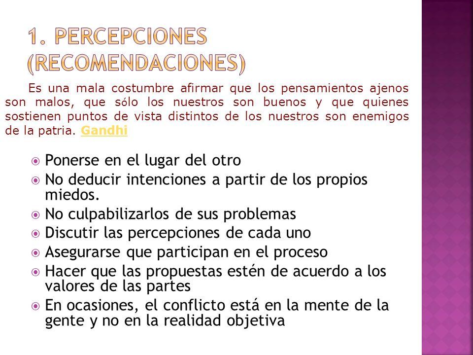 1. Percepciones (recomendaciones)