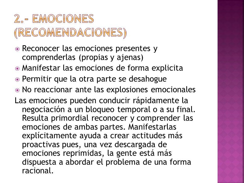 2.- Emociones (recomendaciones)