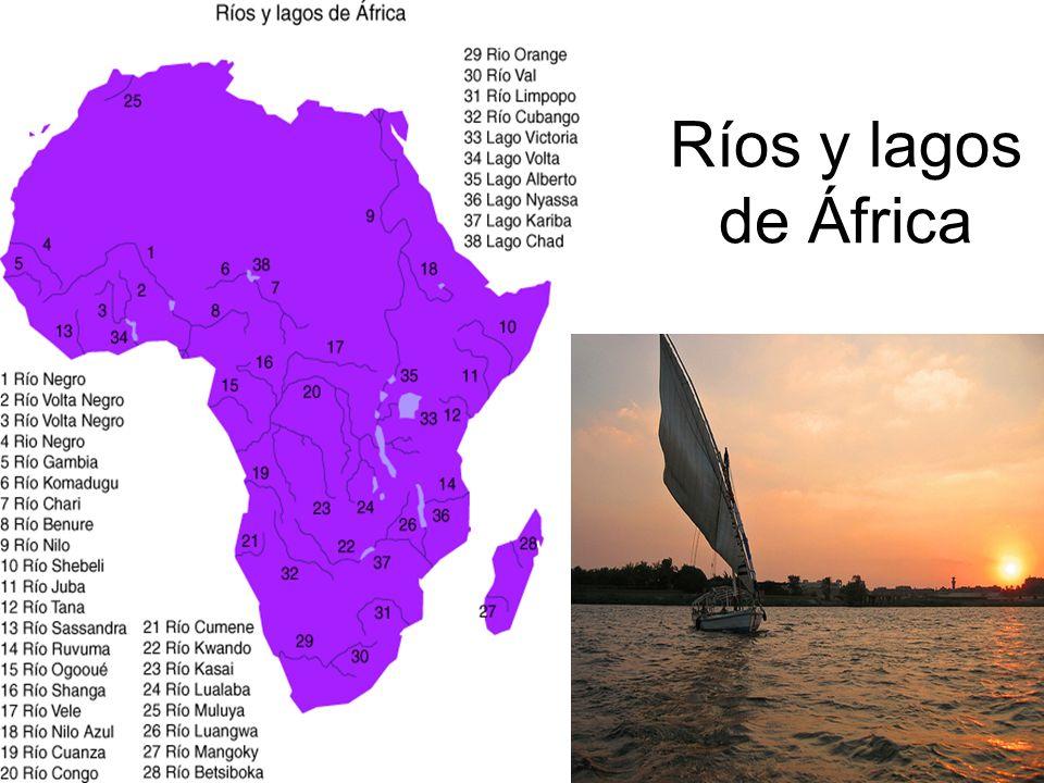 Ríos y lagos de África