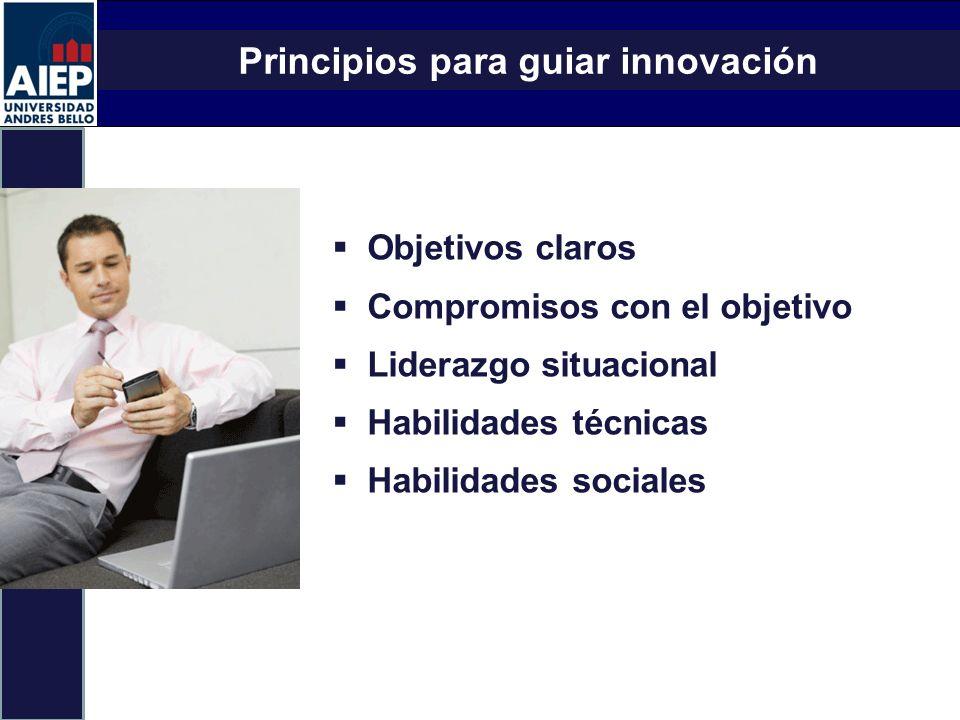Principios para guiar innovación