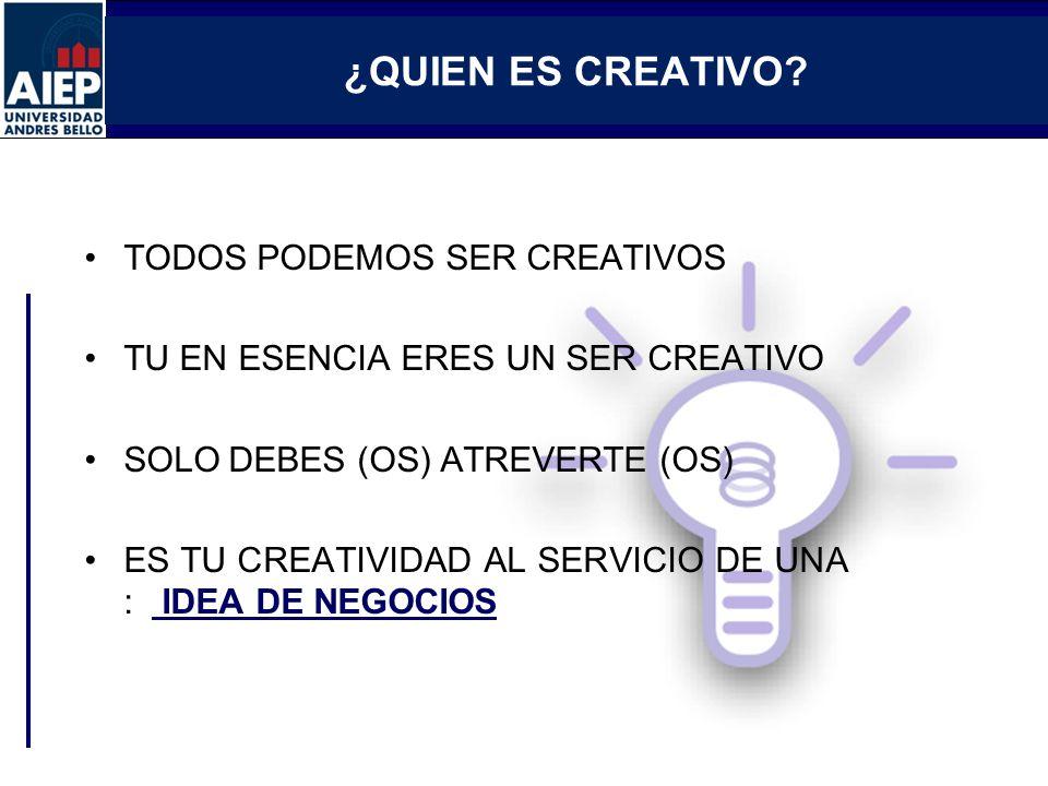 ¿QUIEN ES CREATIVO TODOS PODEMOS SER CREATIVOS
