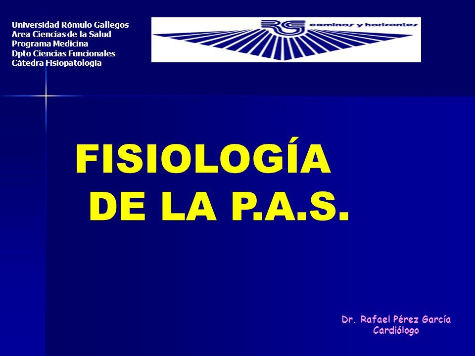 FISIOLOGÍA DE LA P.A.S. Dr. Rafael Pérez García Cardiólogo