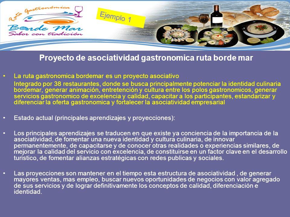 Ejemplo 1 Proyecto de asociatividad gastronomica ruta borde mar