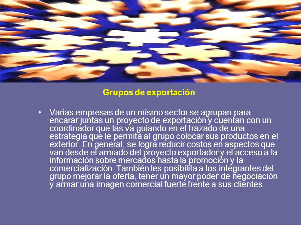 Grupos de exportación
