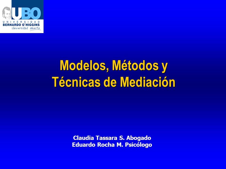 Modelos, Métodos y Técnicas de Mediación