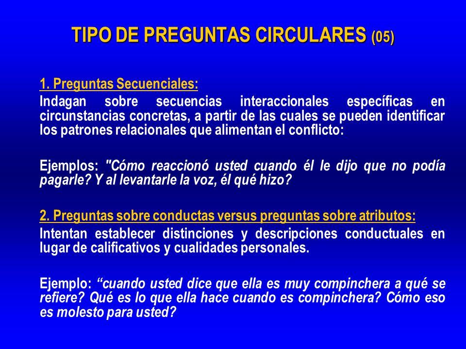 TIPO DE PREGUNTAS CIRCULARES (05)