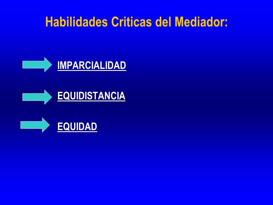 Habilidades Criticas del Mediador: