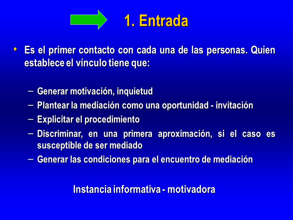 Instancia informativa - motivadora