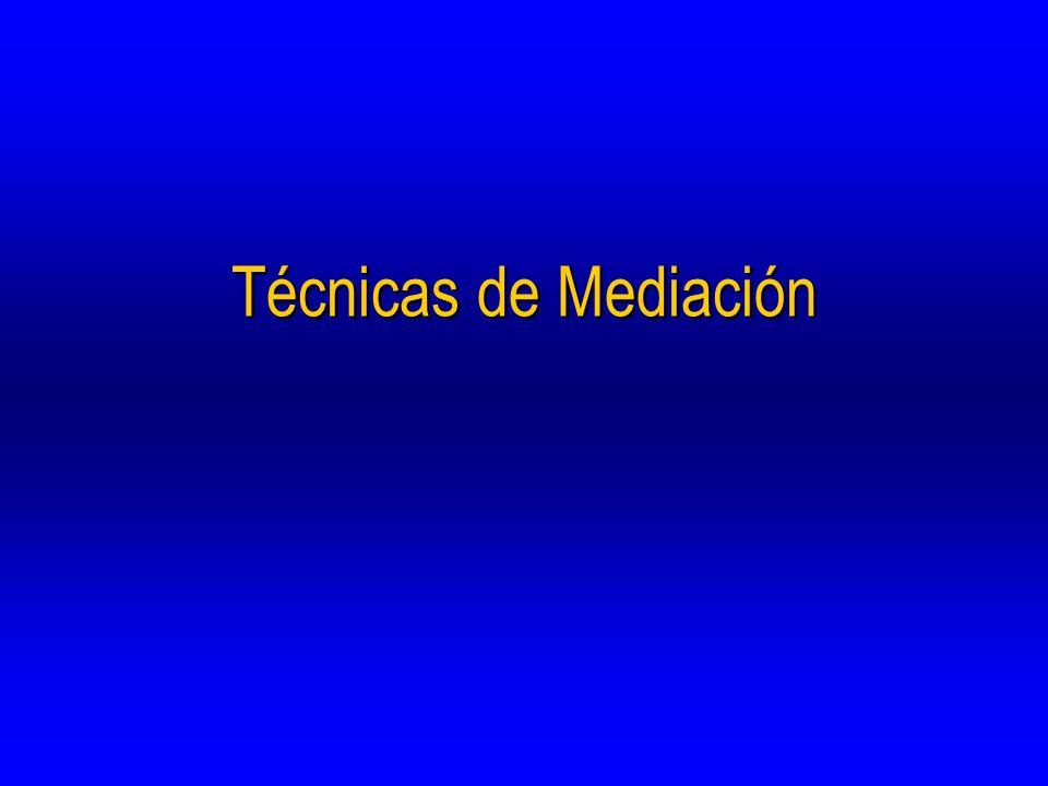Técnicas de Mediación