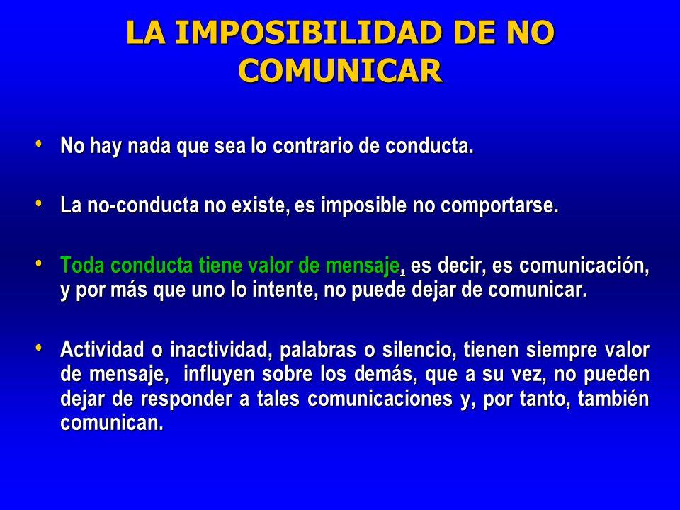 LA IMPOSIBILIDAD DE NO COMUNICAR
