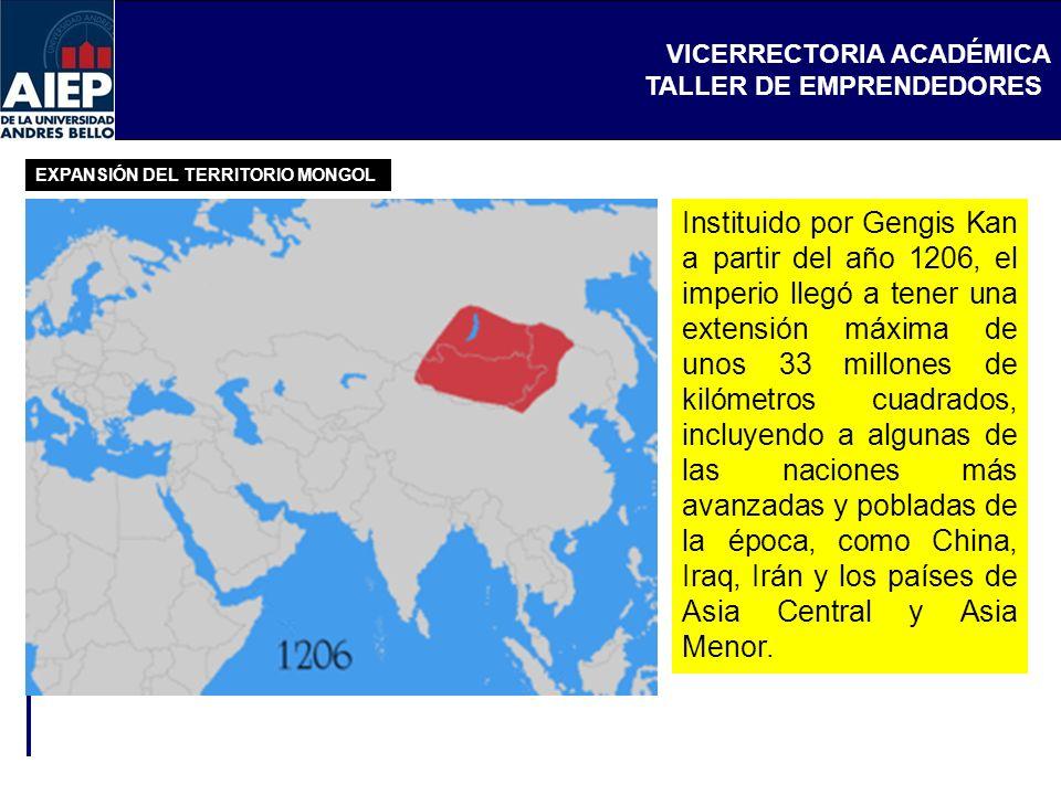 EXPANSIÓN DEL TERRITORIO MONGOL