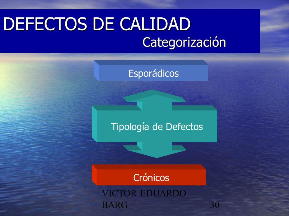 DEFECTOS DE CALIDAD Categorización
