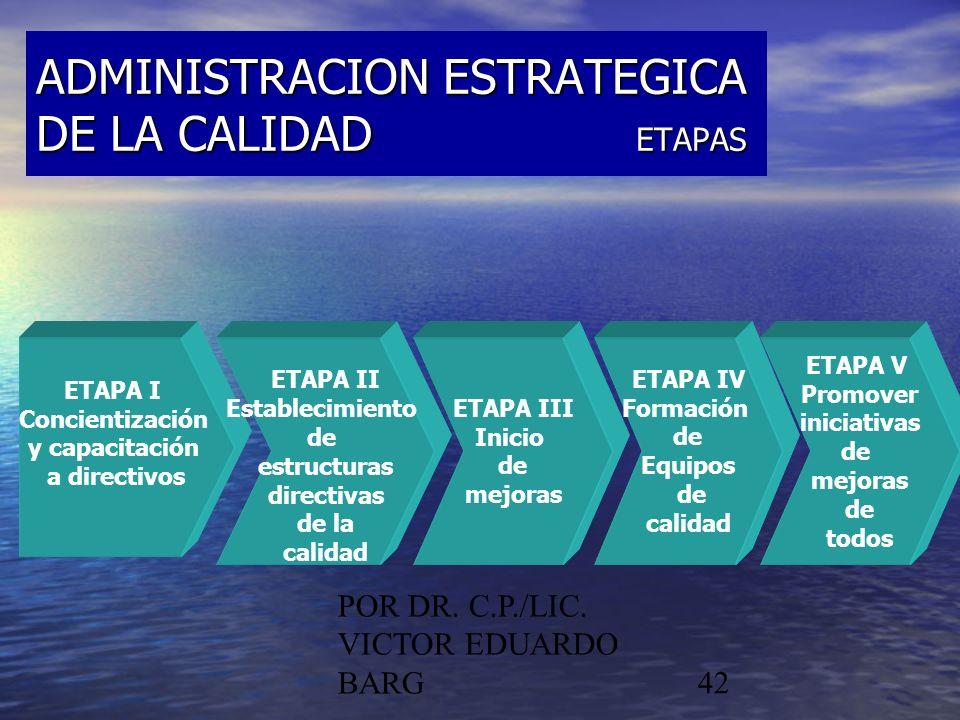 ADMINISTRACION ESTRATEGICA DE LA CALIDAD ETAPAS