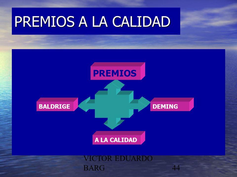 PREMIOS A LA CALIDAD PREMIOS POR DR. C.P./LIC. VICTOR EDUARDO BARG