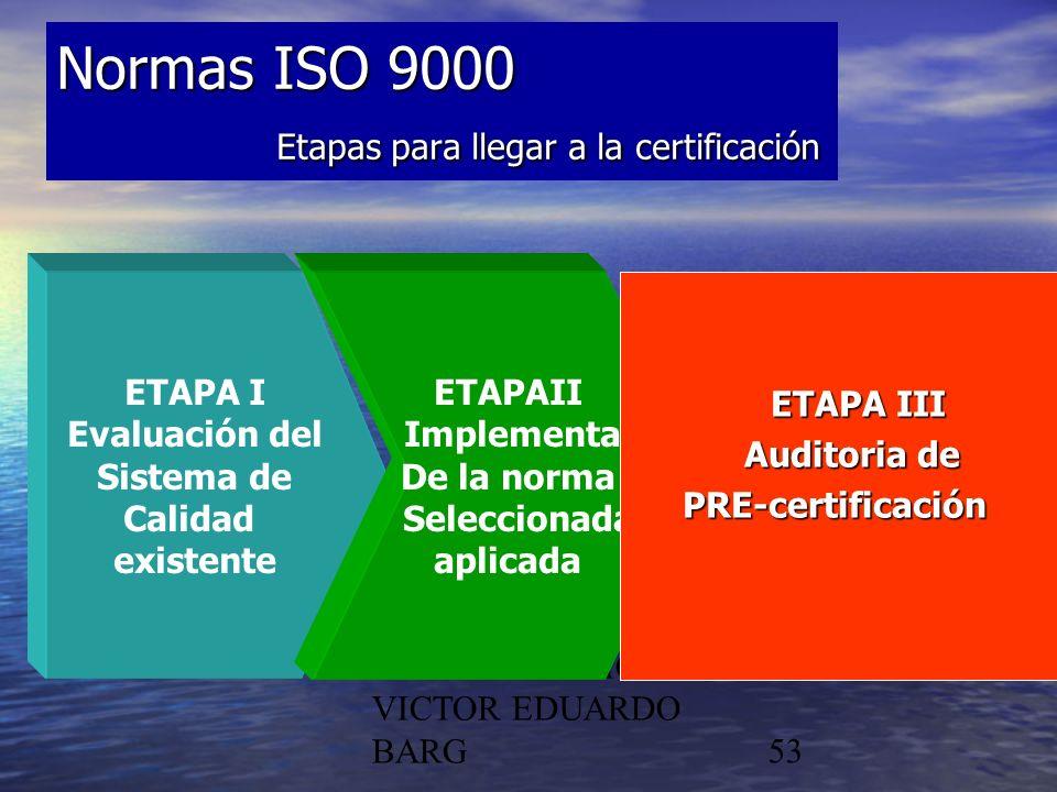 Normas ISO 9000 Etapas para llegar a la certificación