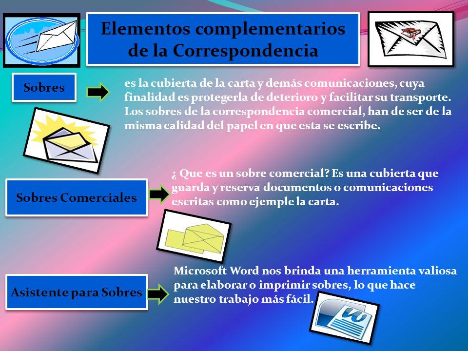 Elementos complementarios de la Correspondencia