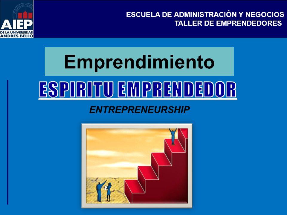 Emprendimiento ESPIRITU EMPRENDEDOR ENTREPRENEURSHIP
