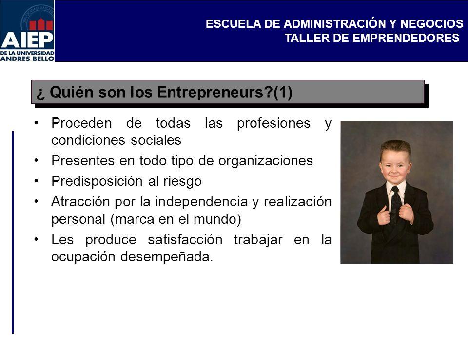 ¿ Quién son los Entrepreneurs (1)