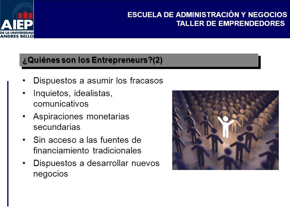 ¿Quiénes son los Entrepreneurs (2)