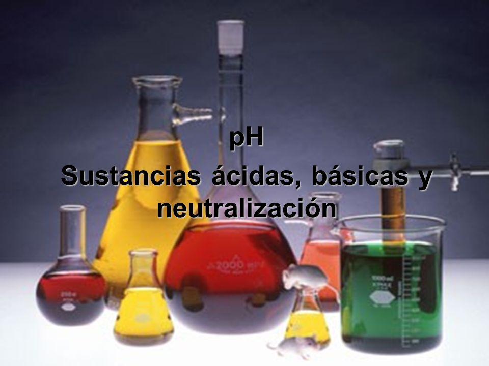 pH Sustancias ácidas, básicas y neutralización