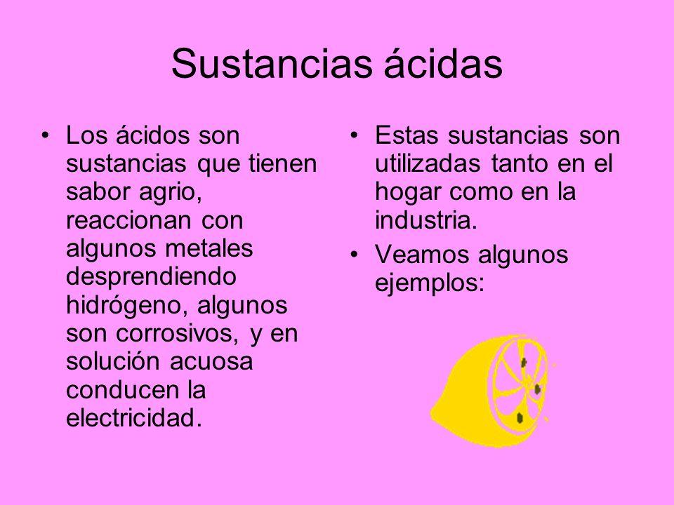 Sustancias ácidas