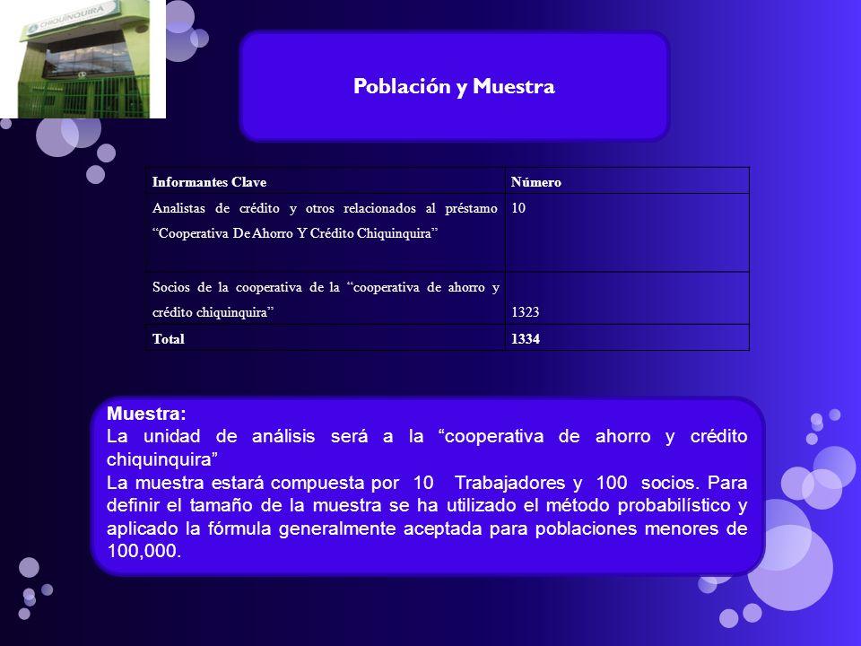 Población y Muestra Muestra:
