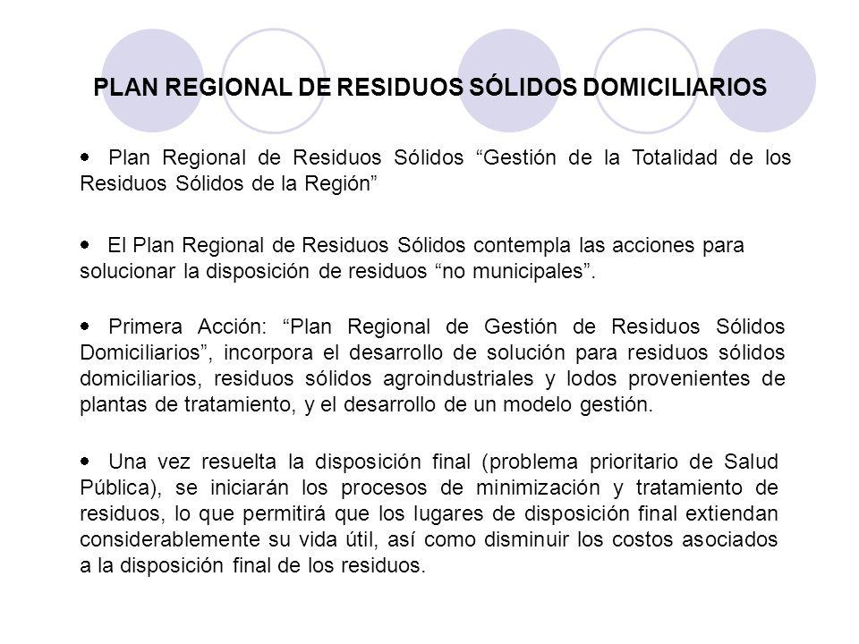 PLAN REGIONAL DE RESIDUOS SÓLIDOS DOMICILIARIOS