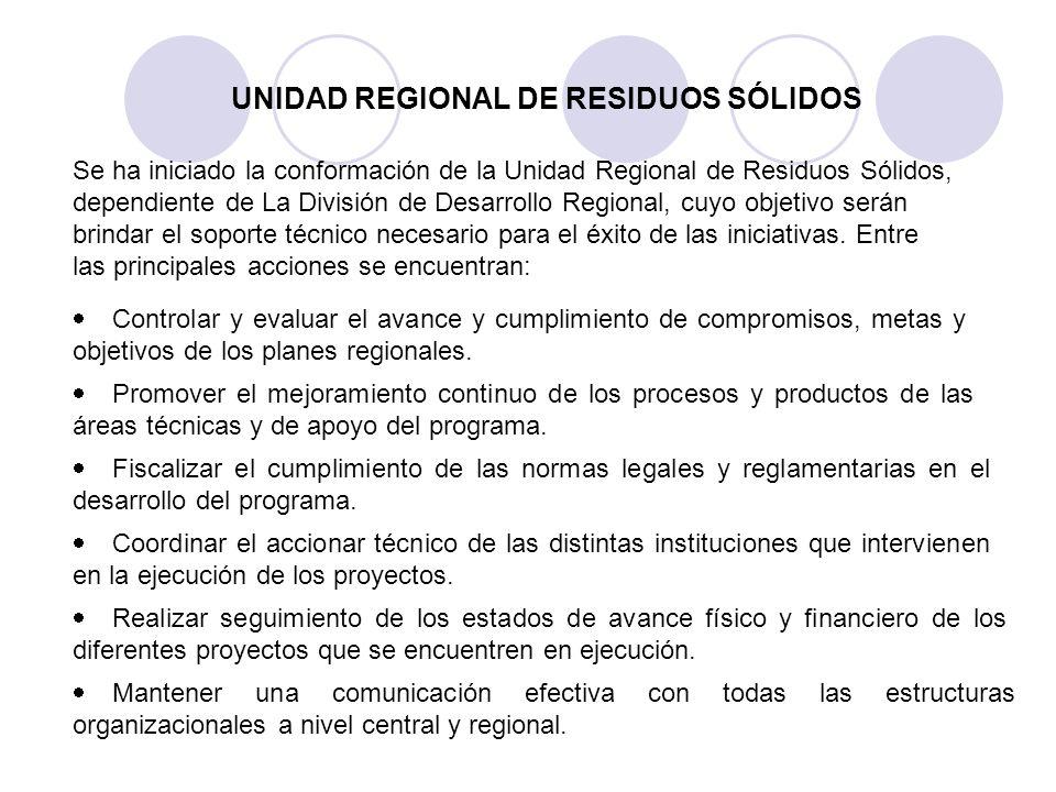 UNIDAD REGIONAL DE RESIDUOS SÓLIDOS