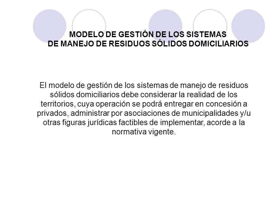 MODELO DE GESTIÓN DE LOS SISTEMAS