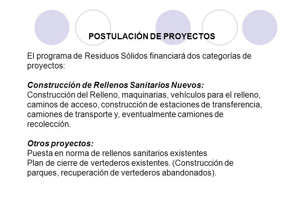 POSTULACIÓN DE PROYECTOS