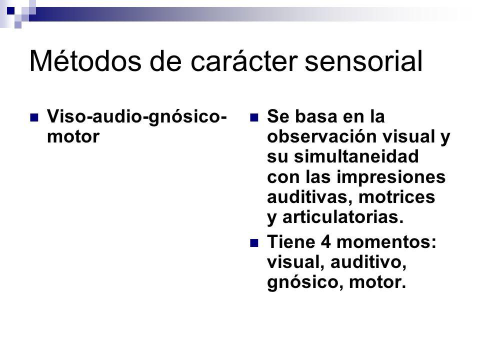 Métodos de carácter sensorial