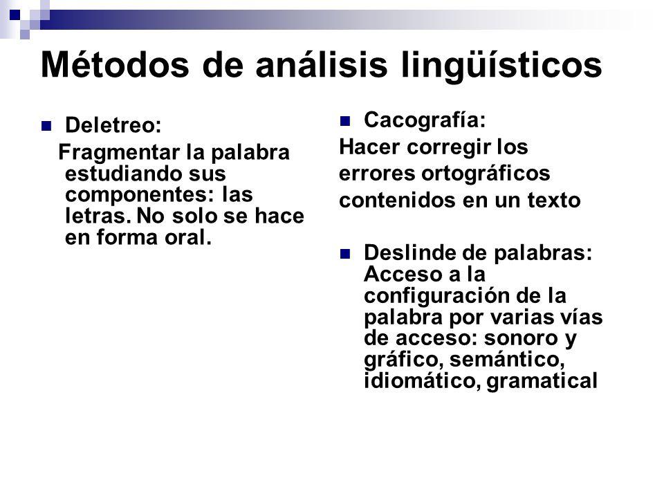 Métodos de análisis lingüísticos