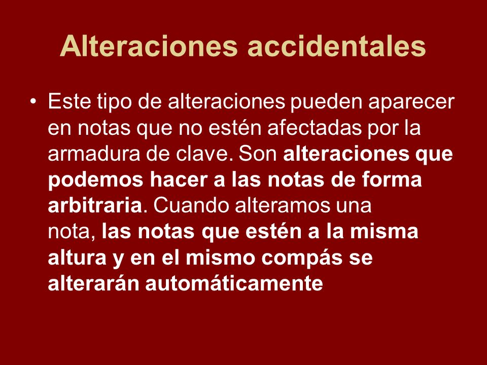 Alteraciones accidentales