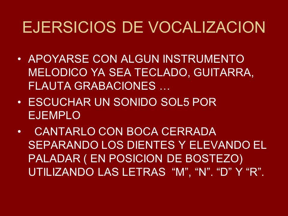 EJERSICIOS DE VOCALIZACION