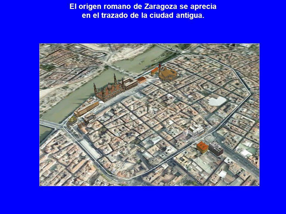 El origen romano de Zaragoza se aprecia