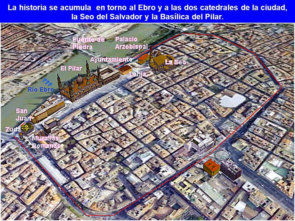 la Seo del Salvador y la Basílica del Pilar.