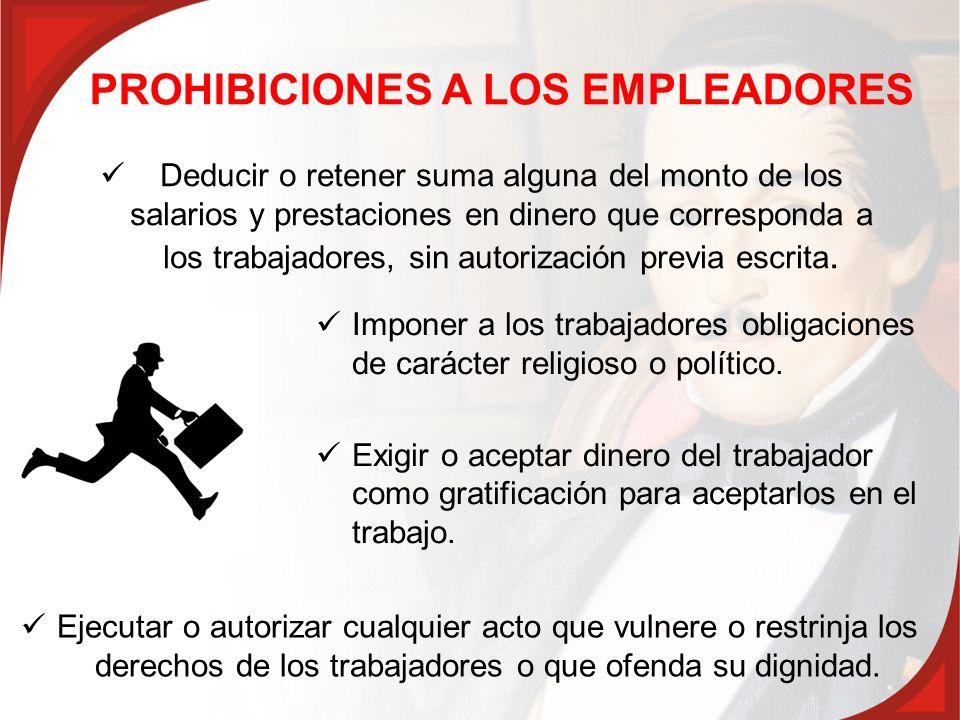 PROHIBICIONES A LOS EMPLEADORES