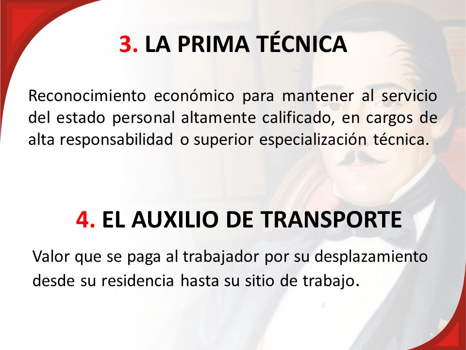 4. EL AUXILIO DE TRANSPORTE