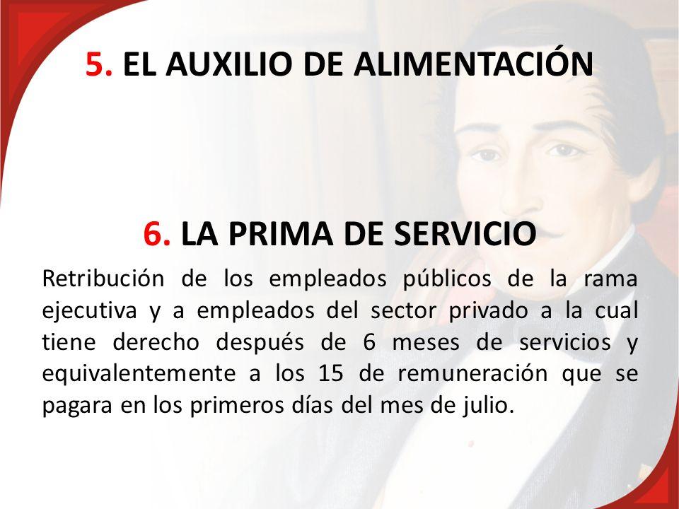 5. EL AUXILIO DE ALIMENTACIÓN