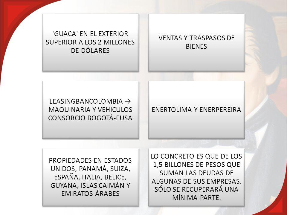 GUACA EN EL EXTERIOR SUPERIOR A LOS 2 MILLONES DE DÓLARES