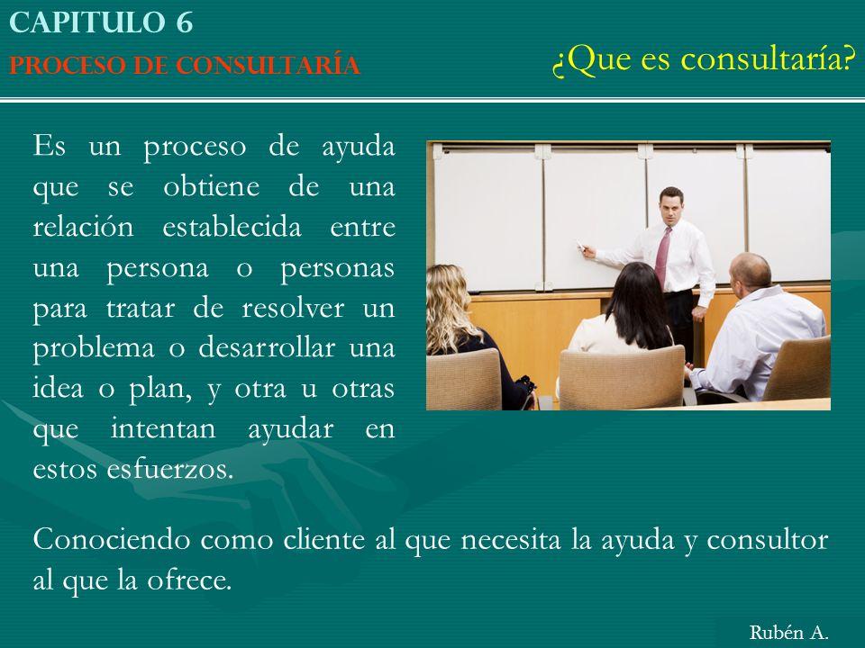 ¿Que es consultaría Capitulo 6. Proceso de consultaría.