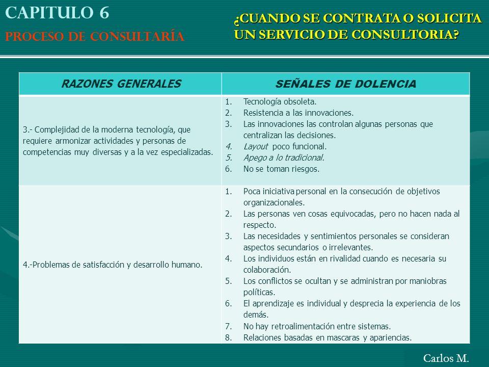 Capitulo 6 ¿CUANDO SE CONTRATA O SOLICITA UN SERVICIO DE CONSULTORIA