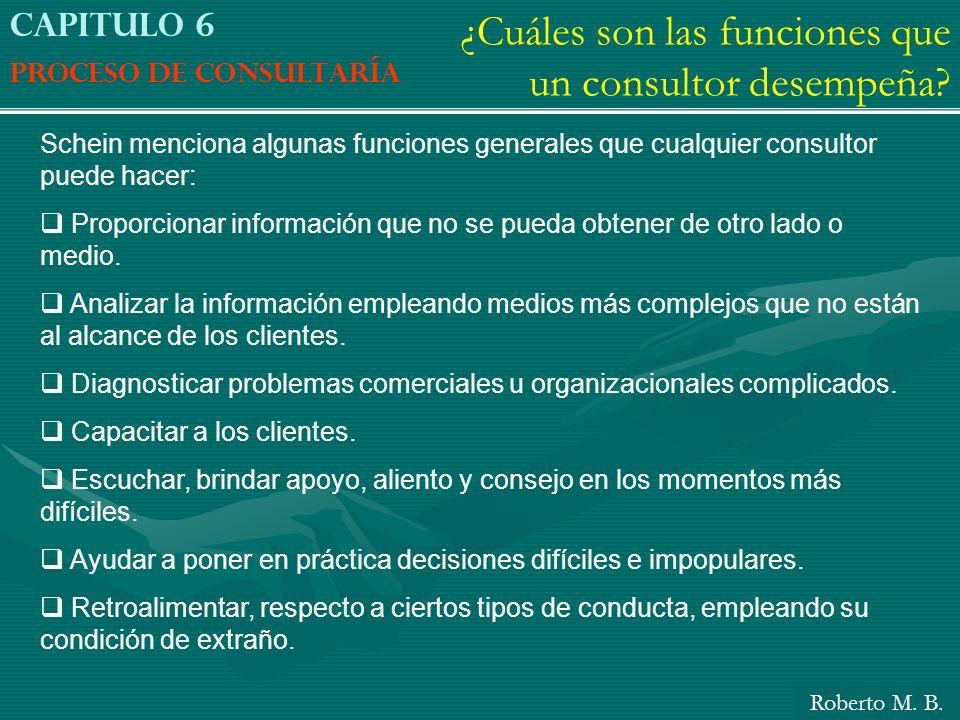 ¿Cuáles son las funciones que un consultor desempeña