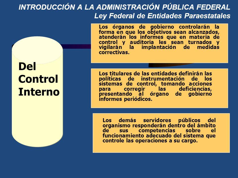 INTRODUCCIÓN A LA ADMINISTRACIÓN PÚBLICA FEDERAL Ley Federal de Entidades Paraestatales